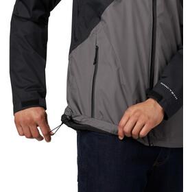 Columbia Rain Scape Kurtka Mężczyźni, black/city grey/black zips